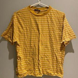 BRANDY MELVILLE   Yellow Striped Tee